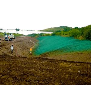 hydroseeder drainage ditch