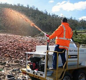 landfill australia hydroseeding